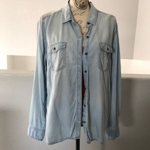 Halogen Denim Button Up Shirt Sz XL